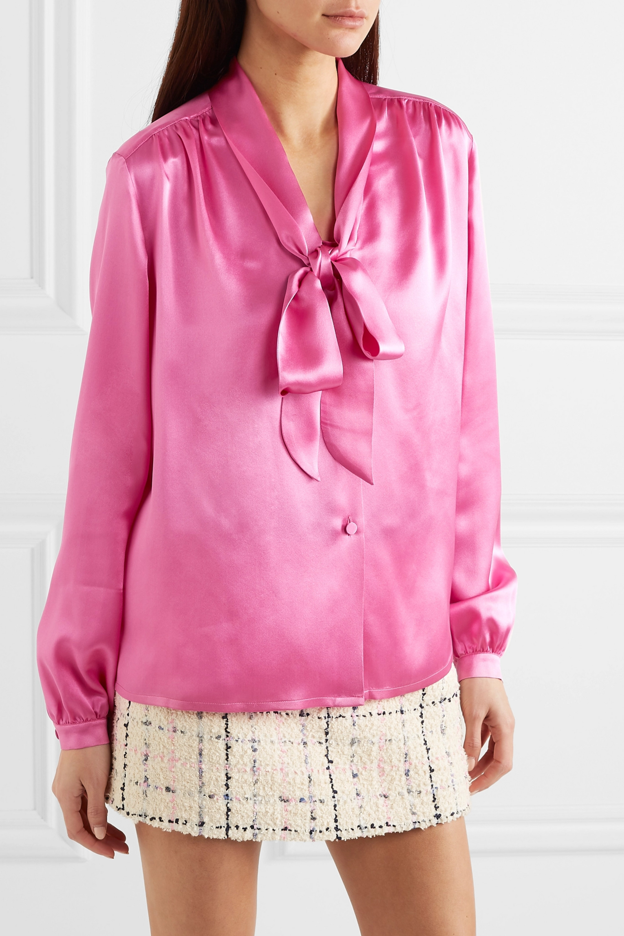 Gucci Pussy-bow silk-satin blouse