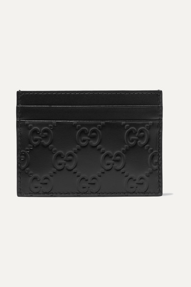 78a0368bdd49d5 Gucci | Embossed leather cardholder | NET-A-PORTER.COM