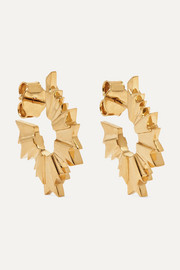 August gold-plated earrings