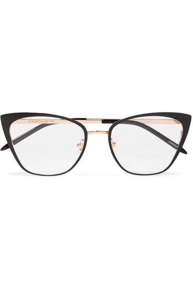 9fab4f7309 For Art s Sake. Stella cat-eye acetate and gold-tone optical glasses