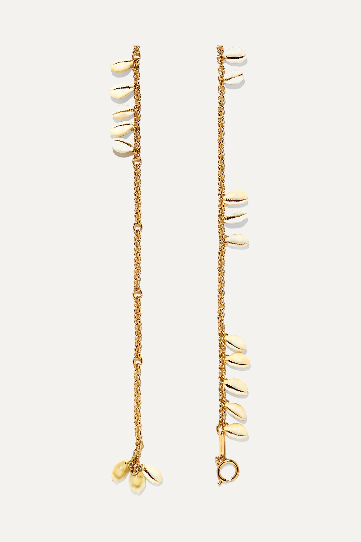 Isabel Marant Gold-tone and shell belt