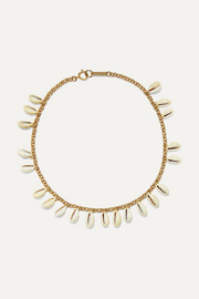 Isabel Marant Gold-tone and shell choker