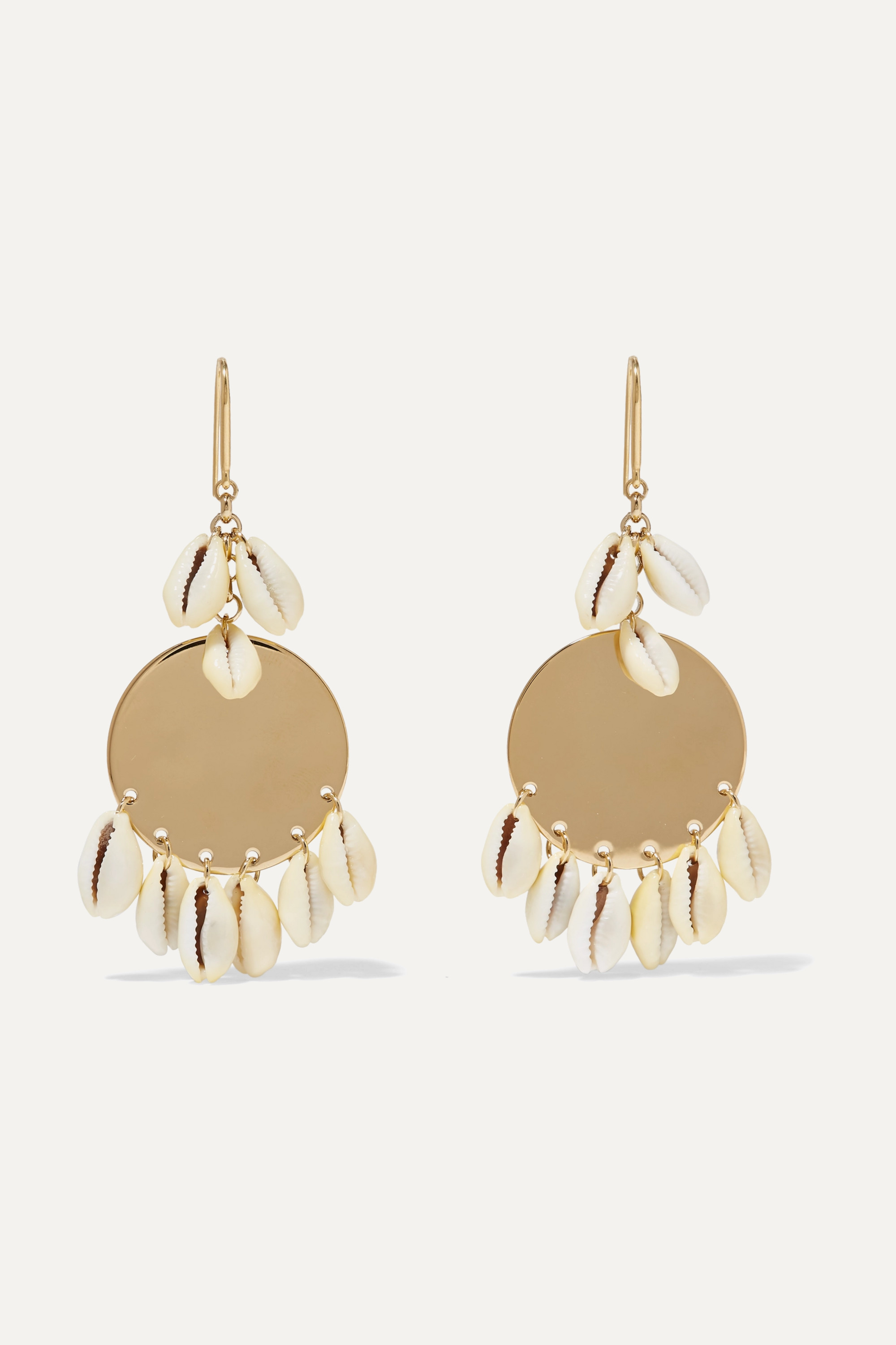 Isabel Marant Gold-tone and shell earrings