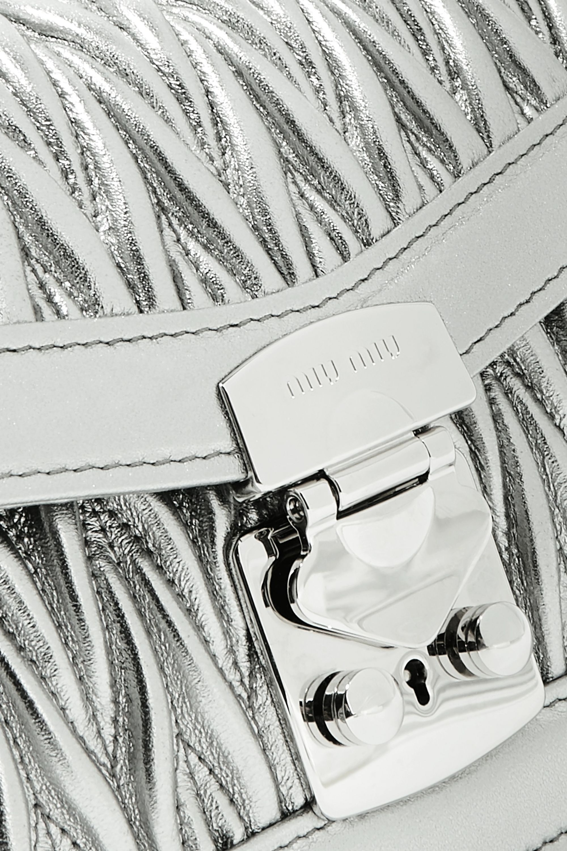 Miu Miu Metallic matelassé leather shoulder bag