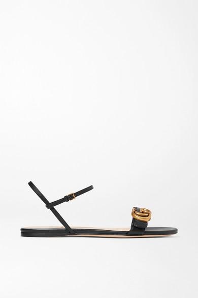 Sandales En Cuir à Logo Marmont by Gucci