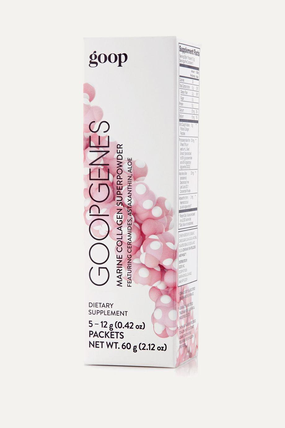 goop GOOPGENES Marine Collagen Superpowder, 5 x 12g