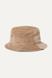 Gucci Reversible velvet and printed silk-twill bucket hat