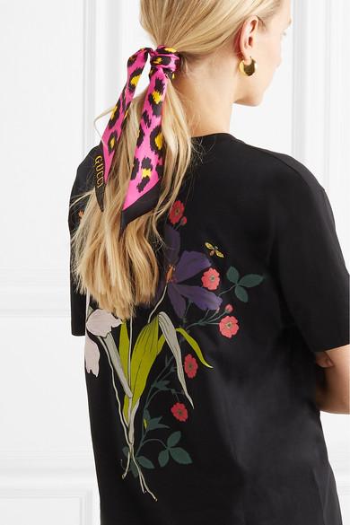 311604bafc83 Gucci. Leopard-print silk-twill scarf.  225. Zoom In
