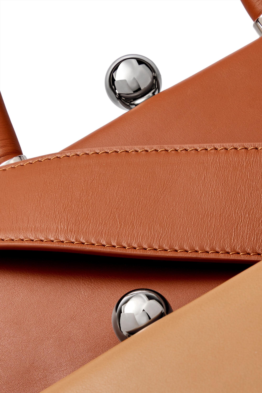Ratio et Motus Twin Frame two-tone leather tote