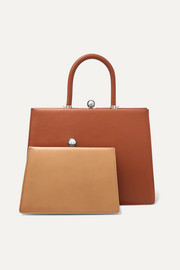 Ratio et Motus Twin Frame two-tone leather tote