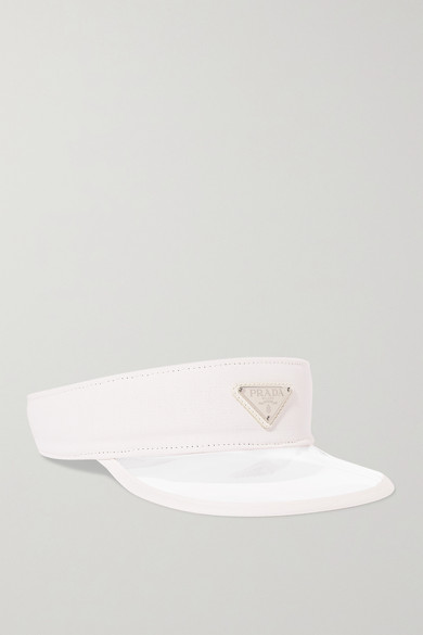 PRADA | Prada - Canvas-Trimmed Pvc Visor - White | Goxip