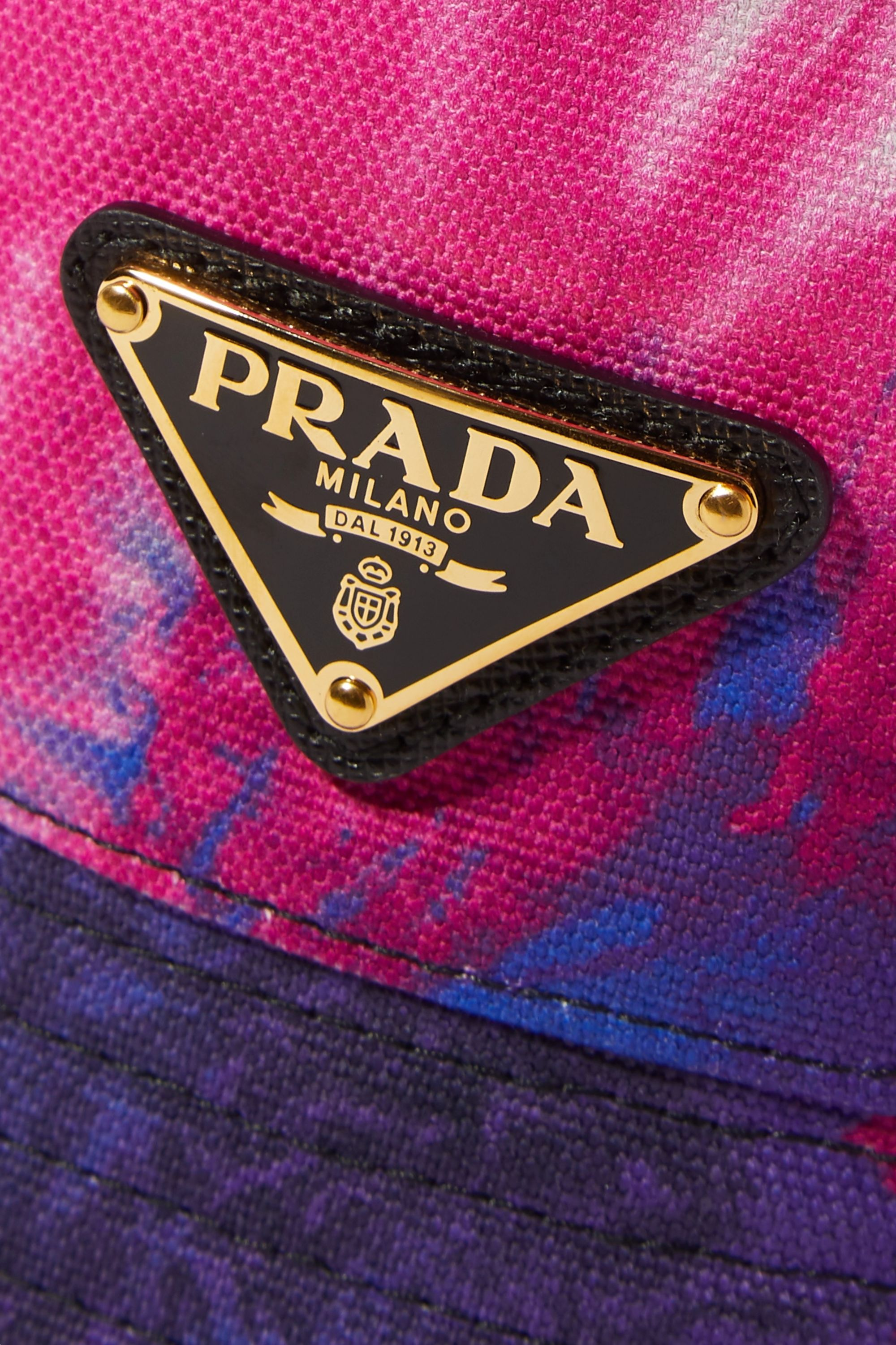 Prada Tie-dyed cotton-canvas bucket hat