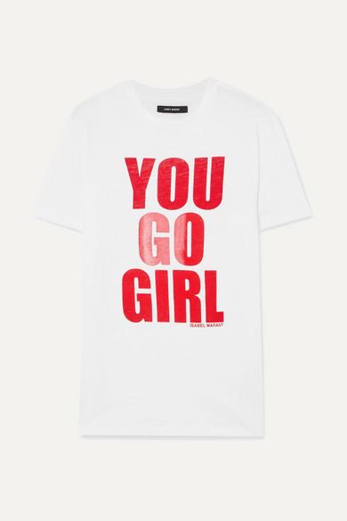 94231e94f0b0 Isabel Marant. International Women's Day printed cotton-jersey T-shirt