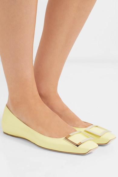 Roger Vivier Shoes Trompette patent-leather ballet flats