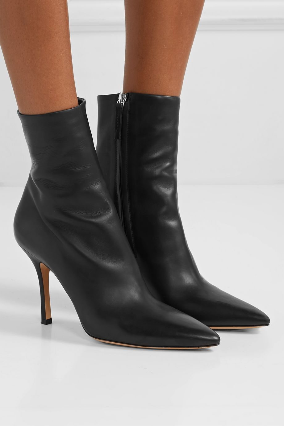 The Row Bottines en cuir Gloria
