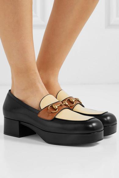 e13b0ffa751 Gucci. Horsebit-detailed leather platform loafers