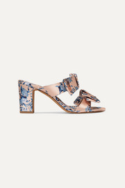 Tabitha Simmons + Johanna Ortiz Barbi bow-embellished floral-print satin mules
