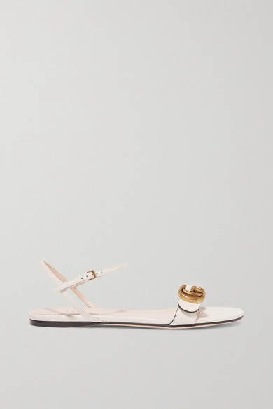 a1cfe92496899 Gucci. Marmont logo-embellished leather sandals