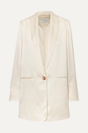 La Collection Amandine oversized silk-satin blazer