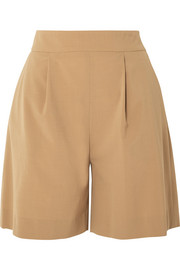 La Collection Stephanie pleated wool-blend shorts