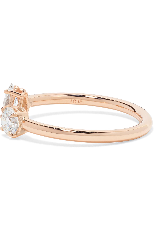 Anita Ko Split 18-karat rose gold diamond ring