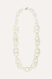 Ippolita Polished Rock Candy 18-karat gold mother-of-pearl necklace