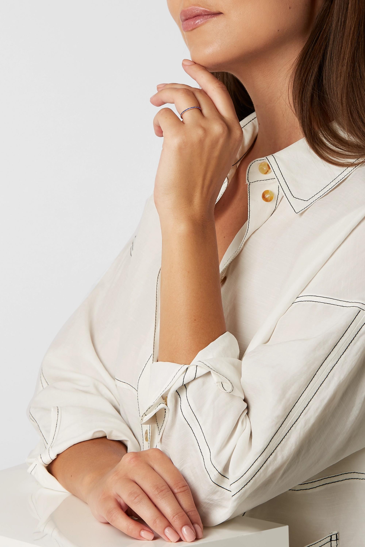 Ileana Makri Thread 18-karat gold sapphire ring