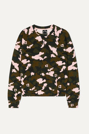 The Upside Sweatshirt aus Stretch-Jersey mit Camouflage-Print