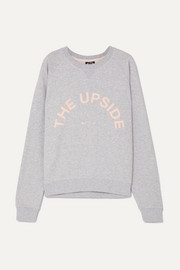 The Upside Bondi Sweatshirt aus Baumwollfrottee mit Applikation