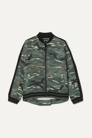 The Upside Ash camouflage-print linen and Tencel-blend bomber jacket