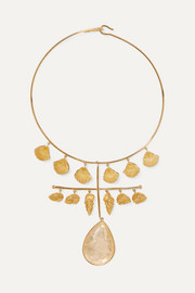 Panama gold-plated crystal necklace