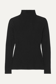Ninety Percent Kaye ribbed organic cotton-jersey turtleneck top
