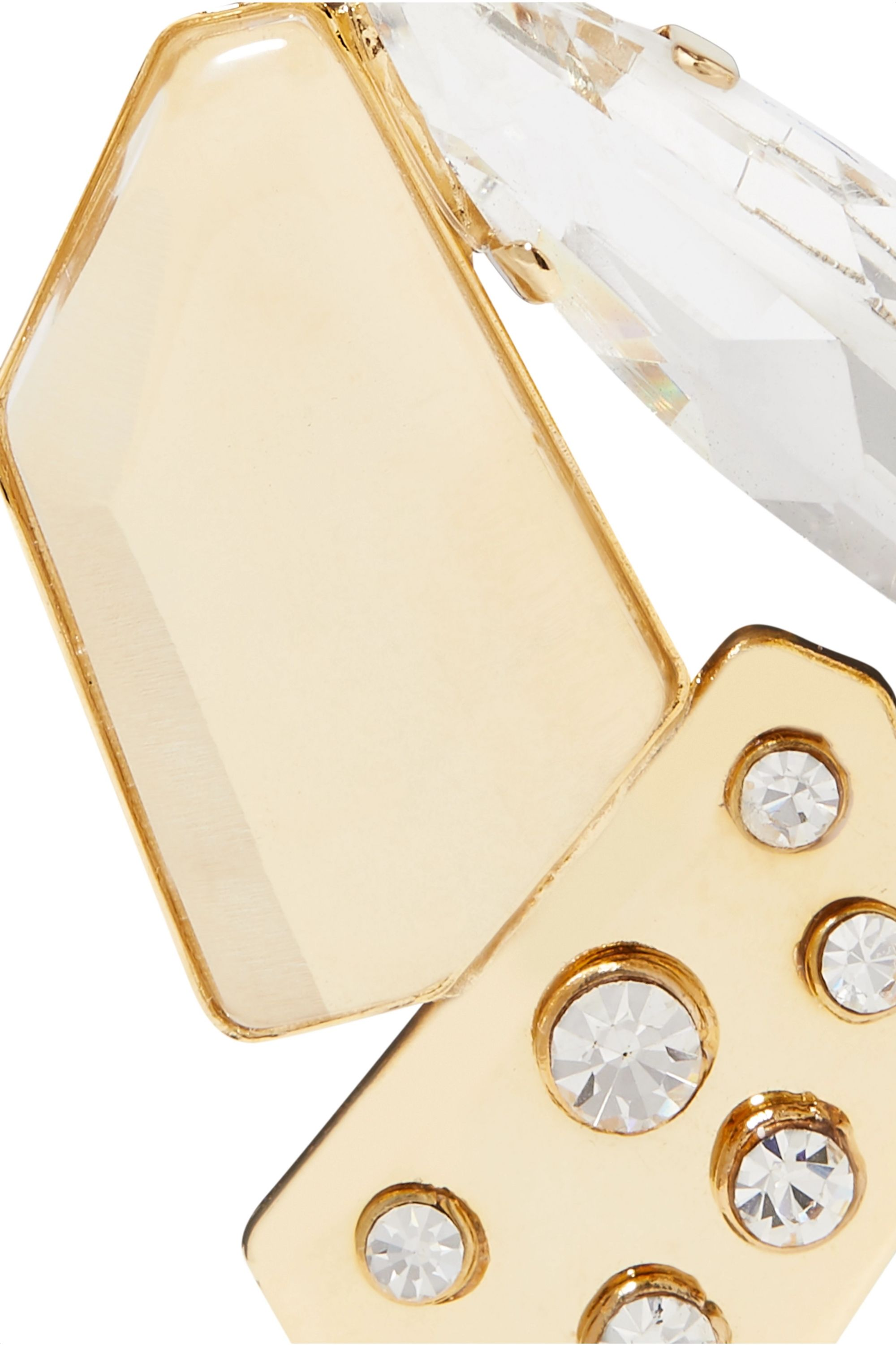 Rosantica Jack gold-tone crystal clip earrings