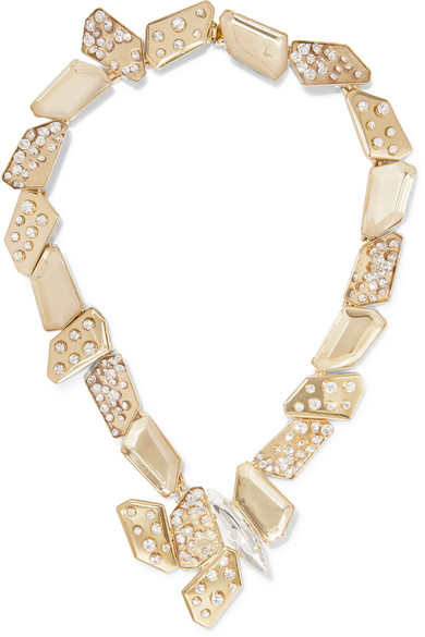 Jack Gold Tone Crystal Necklace by Rosantica