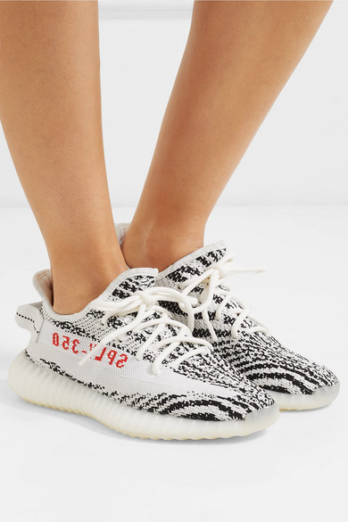 c84f8621 adidas Originals. Yeezy Boost 350 V2 zebra-intarsia Primeknit sneakers