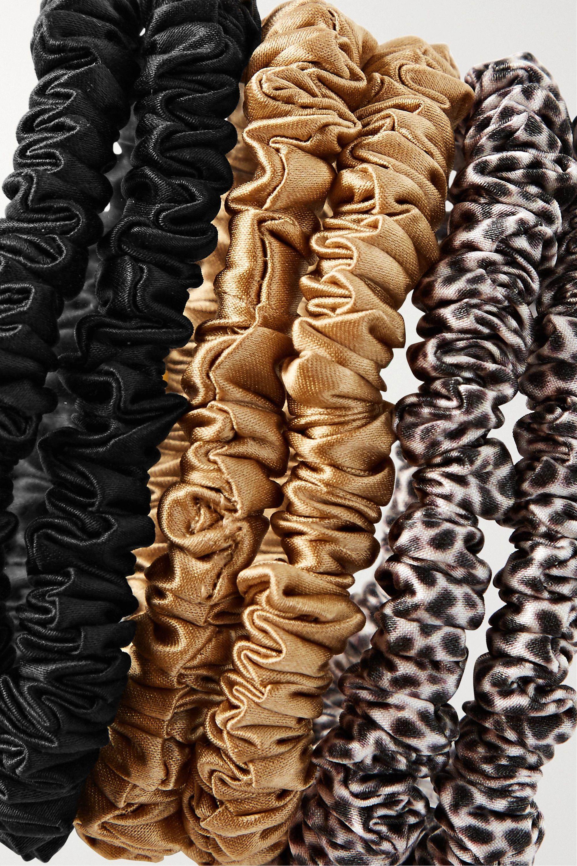 Slip Set of six skinny silk hair ties