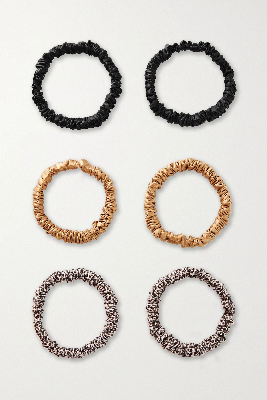 Slip - Set of six skinny silk hair ties