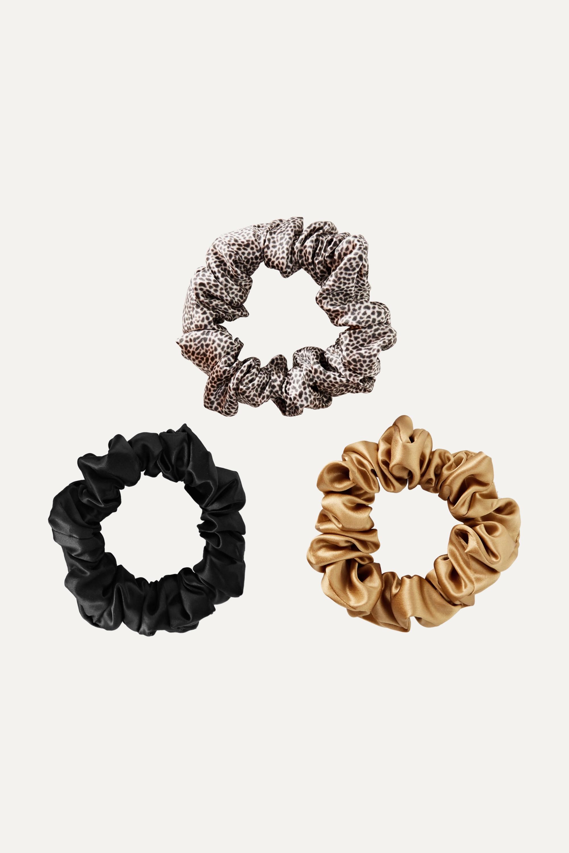 Slip Set of three large silk hair ties