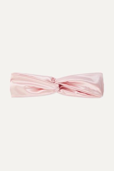 SLIP Twist Silk Headband in Pastel Pink
