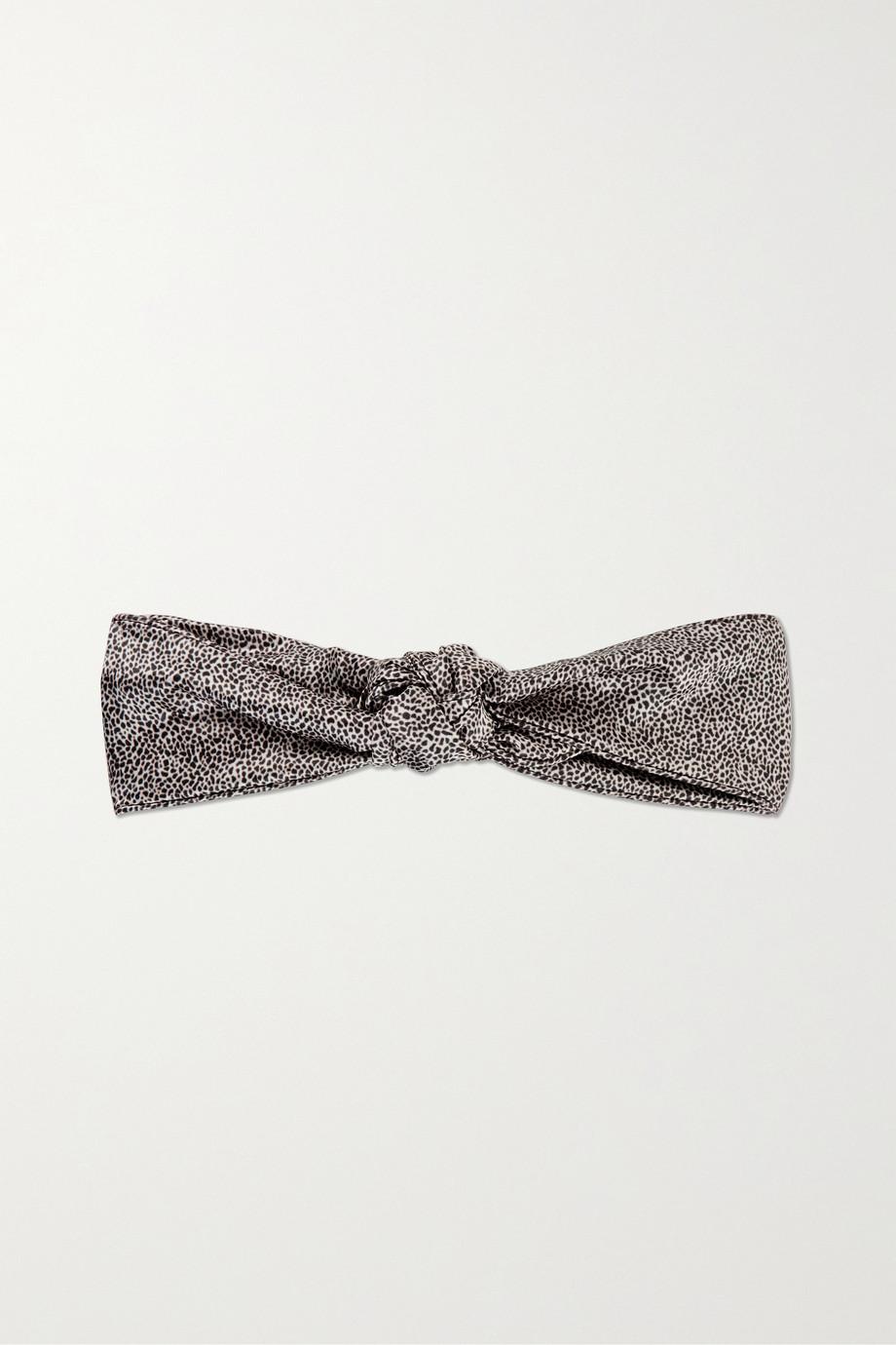 Slip Knot leopard-print silk headband