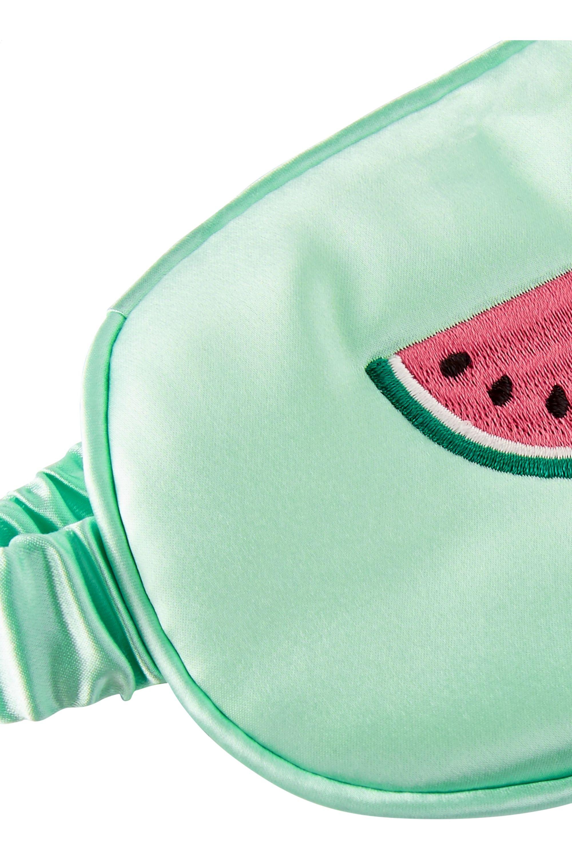 Slip Watermelon Refresher embroidered silk eye mask