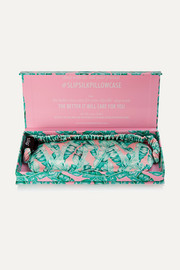 Cali Nights printed silk eye mask