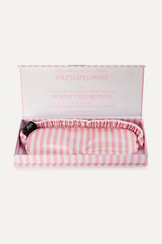 Hollywood Hills striped silk eye mask
