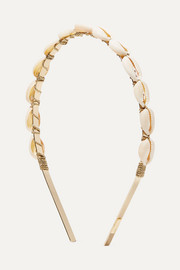 Gold-plated faux shell headband