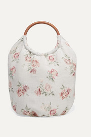 LoveShackFancy Fae floral-print canvas tote
