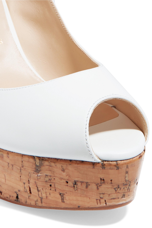 Christian Louboutin Plume Sling 100 leather slingback wedge sandals