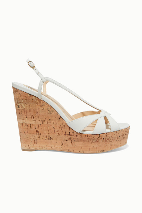 White Lady Wedgy 120 leather wedge sandals | Christian Louboutin xStzEs