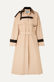 Prada Studded cotton-blend twill trench coat
