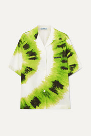 Prada Tie-dyed cotton-poplin shirt