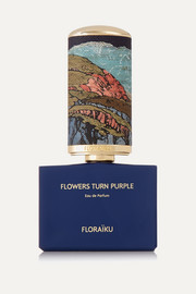 Floraiku Eau de parfum Flowers Turn Purple, 50 ml et 10 ml
